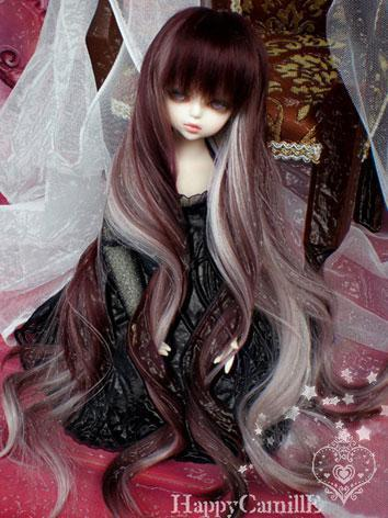 BJD Girl Mix Color Redish Brown Wig for SD/MSD/YSD Size Ball-jointed Doll