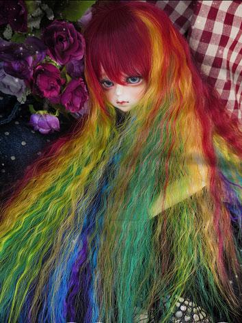 BJD Wig Rainbow Colors Wig ...
