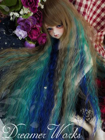 BJD Wig Brown&Blue Colors W...