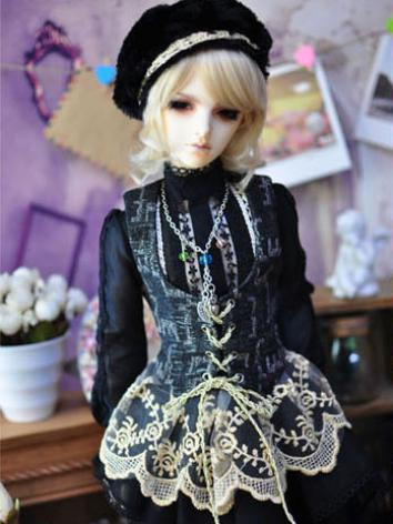 BJD Clothes Boy Black Suit Dawn for 70cm/MSD/SD Size Ball-jointed Doll