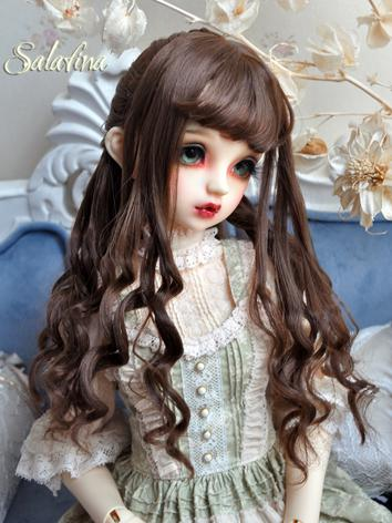 1/3 1/4 1/6 Wig Girl Brown/Light Gold Curly Hair for SD/MSD/YSD Size Ball-jointed Doll