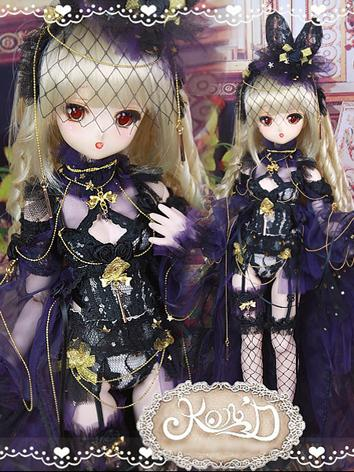 BJD Clothes MSD/MDD/DSD size Black Suit Ball-jointed Doll