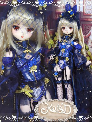 BJD Clothes MSD/MDD/DSD size Blue Suit Ball-jointed Doll