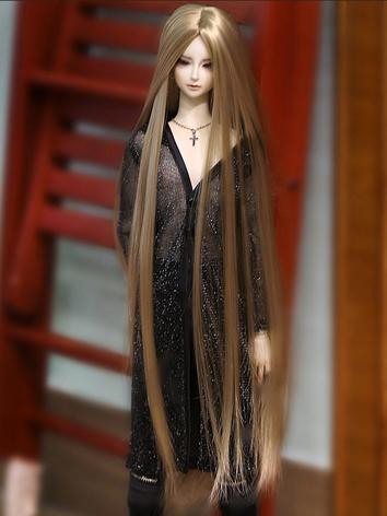 BJD Sandy Brown Long Wig fo...