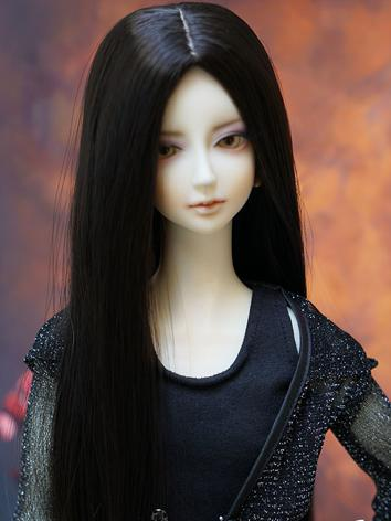 BJD Black Long Wig for SD/M...