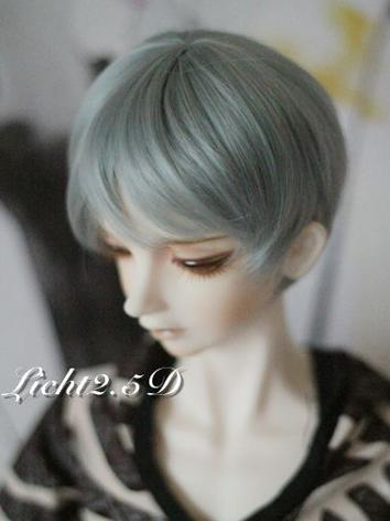 1/3 1/4 1/6 Wig Green/Gray Short Hair[NO.21] for SD/MSD/YSD Size Ball-jointed Doll