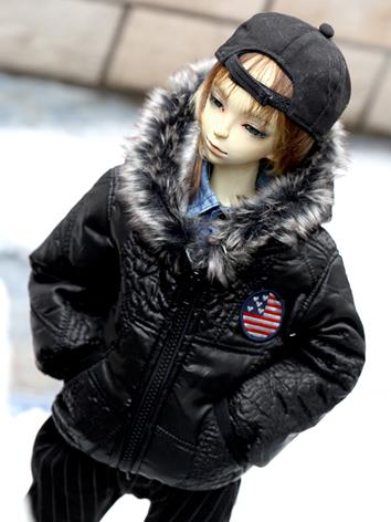 BJD Clothes Male Black Warm...