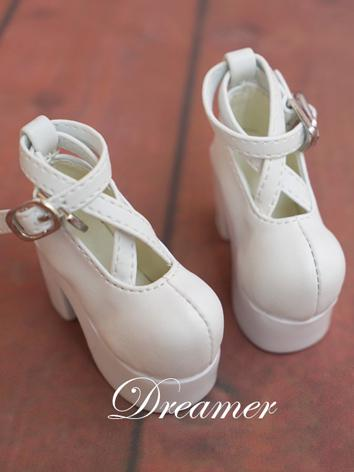 1/4 Bjd Girl Shoes White Sh...