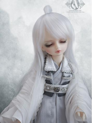 BJD 1/6 white long hair for...
