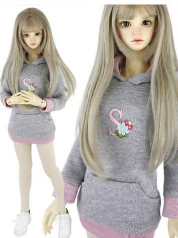 BJD Clothes Girl Gray Hoodi...