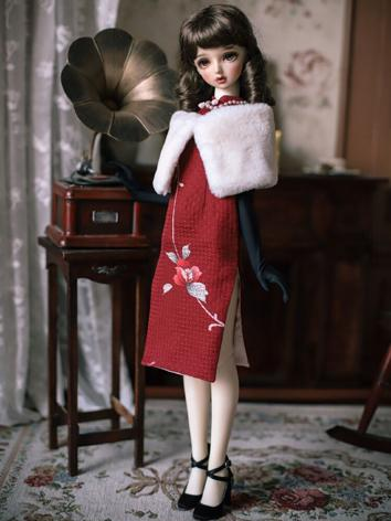 1/3 Clothes BJD Girl Red Ch...