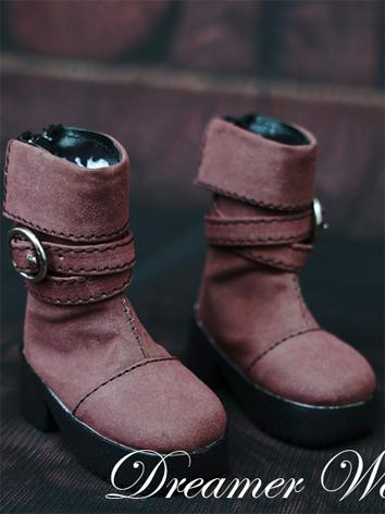 1/3 1/4 Shoes Male Black/Brown/Beige Short Boots Shoes for SD/MSD Ball-jointed Doll