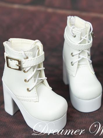 1/3 1/4 White High Heel Gir...