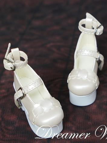 1/3 1/4 Beige High Heel Girl Shoes for SD/MSD Ball-jointed Doll