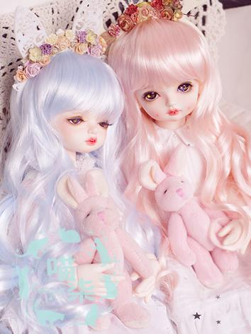 BJD Wig Boy Blue/Pink Wig for SD Size Ball-jointed Doll