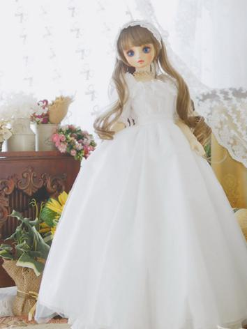 1/3 1/4 1/6 White Dress +Gl...