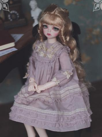 1/3 1/4 1/6 Purple Dress +Little Lady in the Morning Light+ for YSD/MSD/SD Size Ball-jointed Doll