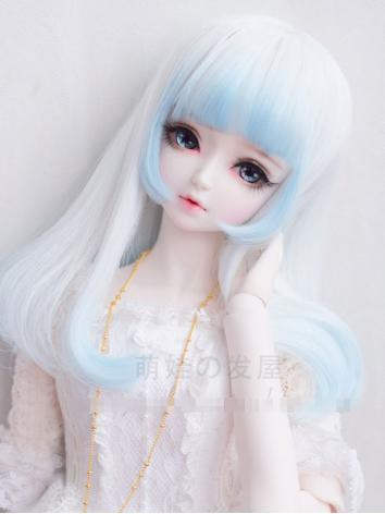 1/3 1/4 Wig Girl White Hair for SD/MSD Size Ball-jointed Doll