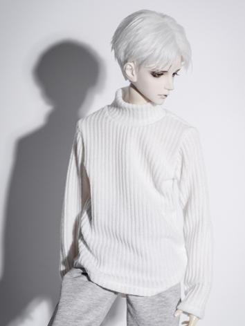 1/3 1/4 70cm Clothes White Sweater A210 for MSD/SD/70cm Size Ball-jointed Doll