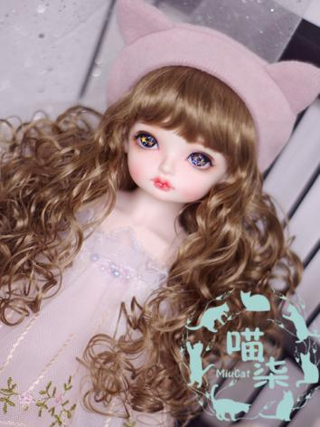 BJD Wig Girl Light Blue/Bro...