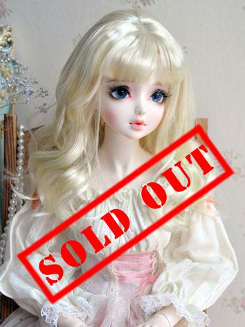 1/3 Wig Girl Light Gold Curly Hair for SD Size Ball-jointed Doll