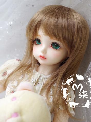 BJD Wig Boy/Girl Golden Brown Hair for SD/MSD Size Ball-jointed Doll