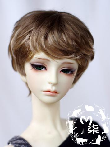 BJD Wig Boy Dark Brown Shor...