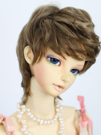1/3 Wig Brown Curly Hair fo...