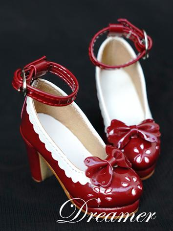 1/3 Girl Shoes Wine/White/B...