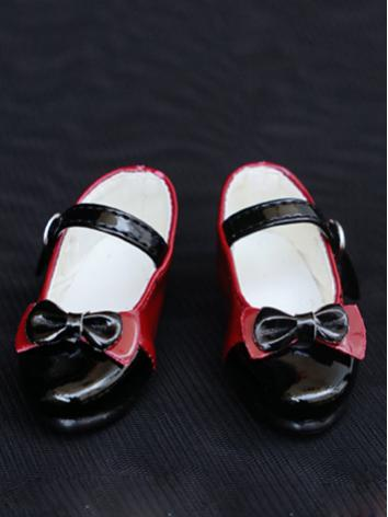 1/4 Girl Shoes Red&Black Fl...
