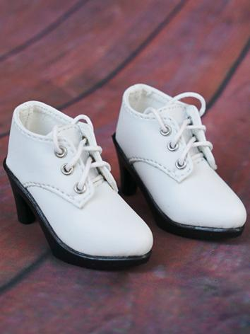 1/4 Girl Shoes White High H...