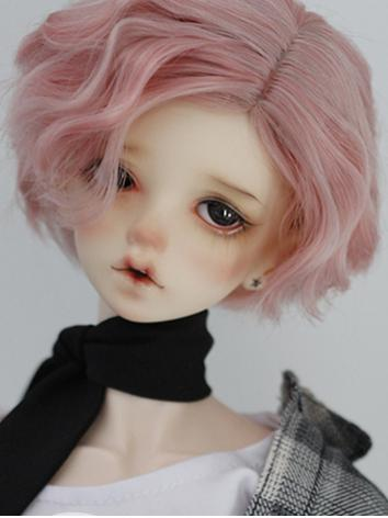 1/3 Wig 8-9inch Wig Pink Short Hair E09SSP for SD Size Ball-jointed Doll