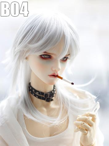 1/3 1/4 1/6 Wig Silver White Short Hair B04 for SD/MSD/YSD Size Ball-jointed Doll