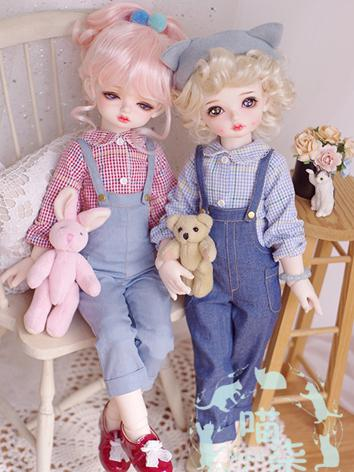 BJD 1/4 Clothes Girl Shirt+...