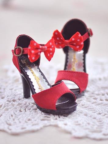 1/3 Girl Shoes Red High Hee...