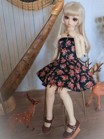 BJD Clothes Girl Printed Dr...