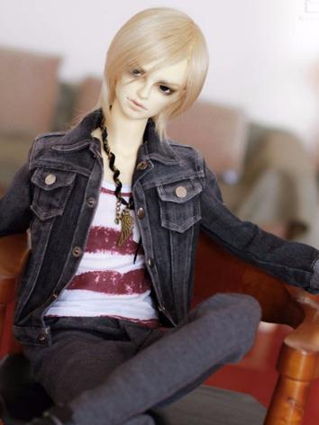 BJD Clothes Boy Black Jeans...