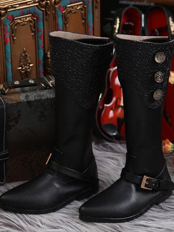 Bjd Shoes 70+ Europe Style male boots Black SH118031H for 70CM Size Ball-jointed Doll