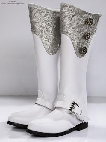 Bjd Shoes 70+ Europe Style male boots White SH118031B for 70CM Size Ball-jointed Doll