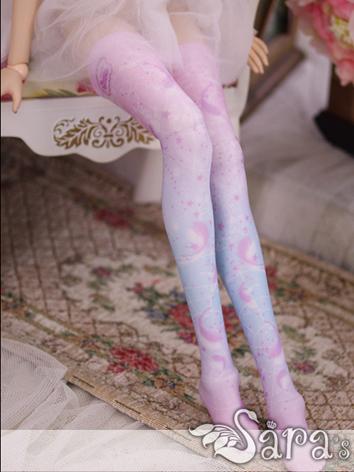 Bjd Socks Girl Lady Printed High Stockings For Sd Ball Jointed