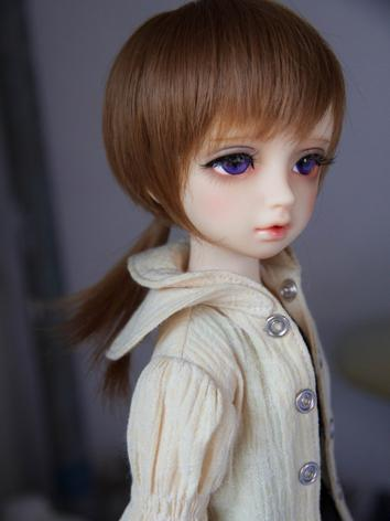 1/4 Wig Boy/Girl Dark Gray Hair for MSD Size Ball-jointed Doll