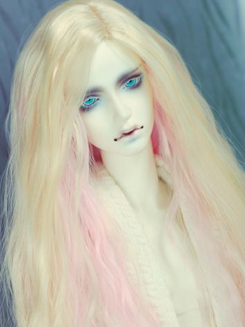 1/3 Wig Boy/Girl Pink&Light Gold Curly Hair for SD/70cm Size Ball-jointed Doll