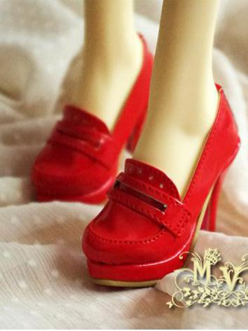 1/3 Girl Shoes Green/Rose/Khaki/Red High Heels for SD16/SDGR Ball-jointed Doll