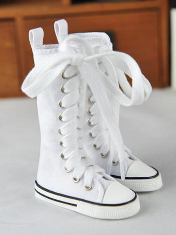 Boy/Girl Shoes White/Black High Boots Leisure Shoes for SD13 Ball-jointed Doll