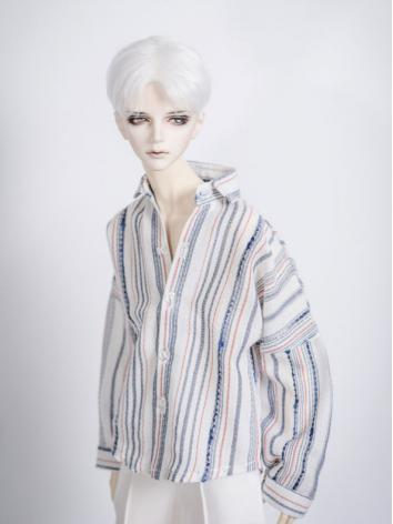 1/3 1/4 70cm Clothes Stripe Shirt A214 for MSD/SD/70cm Size Ball-jointed Doll