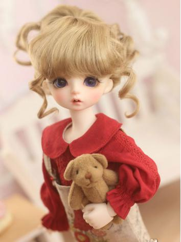 1/3 1/4 1/6 Wig Girl Light Brown/Pink Hair for SD/MSD/YOSD Size Ball-jointed Doll