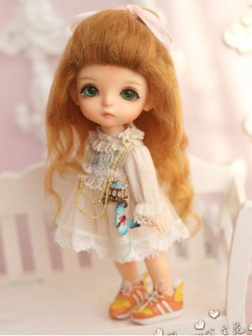 1/8 Wig Girl Yellow Curly H...