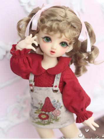1/3 1/4 1/6 Wig Girl Light Brown Hair for SD/MSD/YOSD Size Ball-jointed Doll