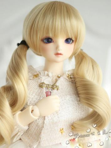 1/3 1/4 1/6 Wig Girl Light Gold Hair for SD/MSD/YOSD Size Ball-jointed Doll