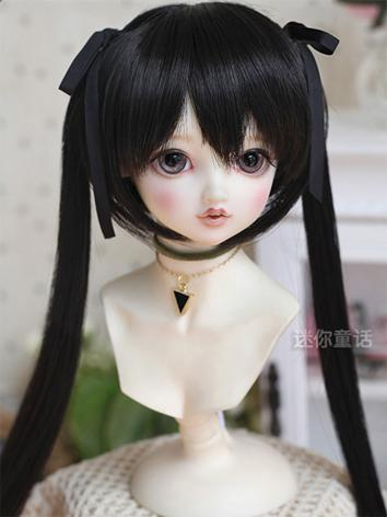 BJD Girl Black Hair 1/3 1/4 1/6 Wig for SD/MSD/YSD Size Ball-jointed Doll